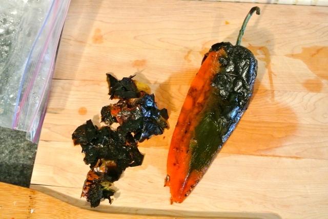 Peeling Poblano Peppers