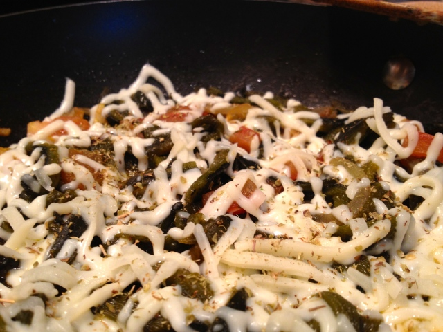 Poblano Pepper Strips with Cheese