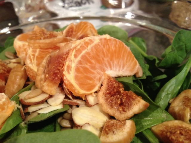 ig and clementine salad with balsamic.
