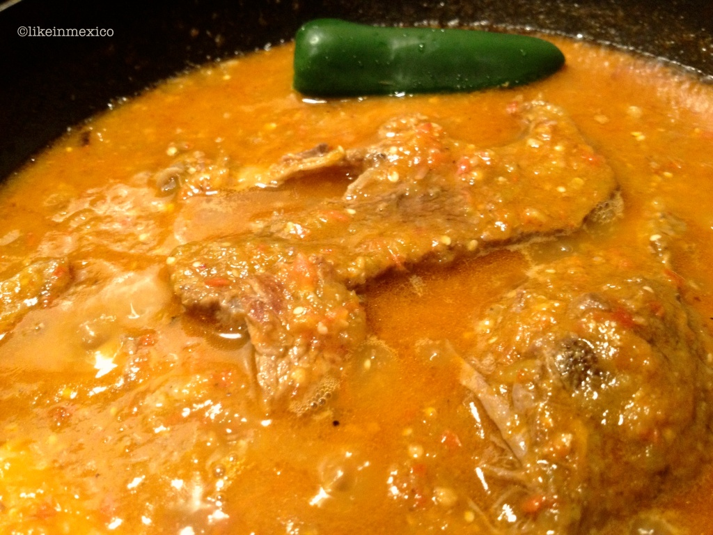 Carne con Chile {Beef Short Ribs} Recipe|Carne con Chile {Costillitas de Res} Receta