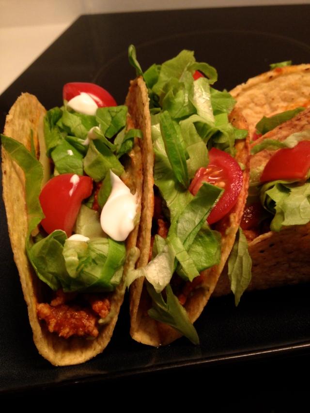 Turkey tex -mexican tacos