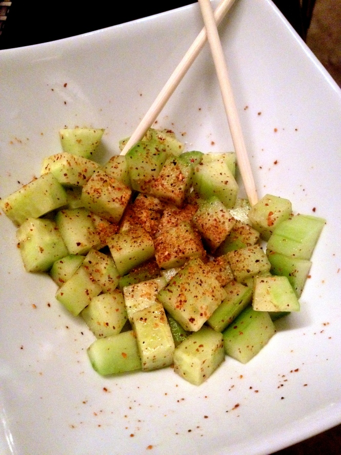 cucumber and Tajin