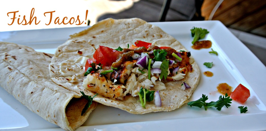LIME AND PEPPER FISH TACOS