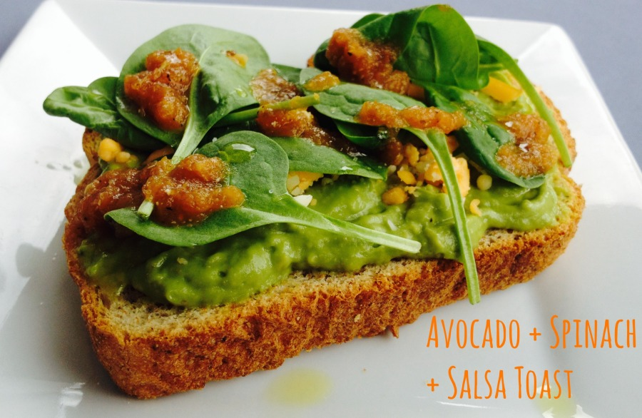 Avocado-spinach-Salsa-Toast