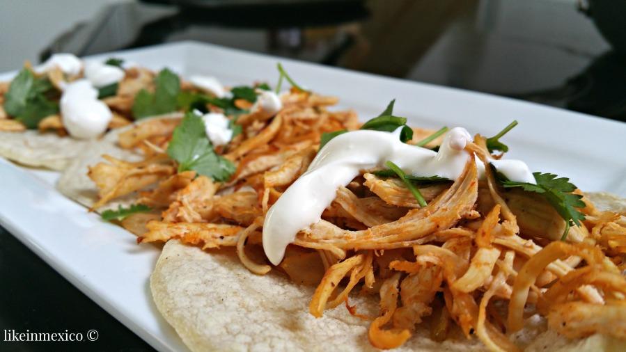 Chicken Tacos TexMex - Tacos de Pollo TexMex