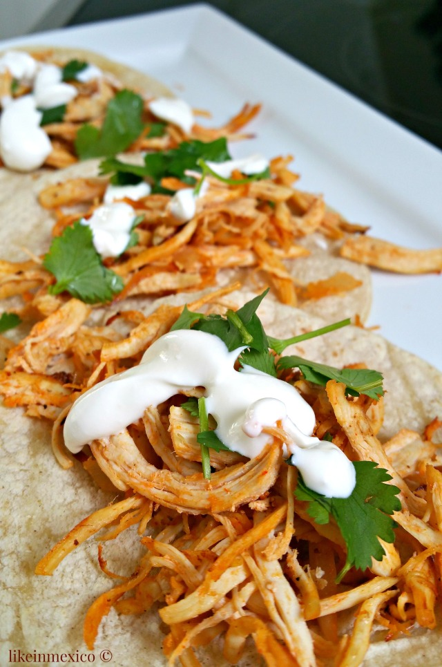 TexMex Chicken Tacos - Tacos de Pollo TexMex